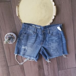 Madewell Distressed Jean Shorts Cutoff 28 in